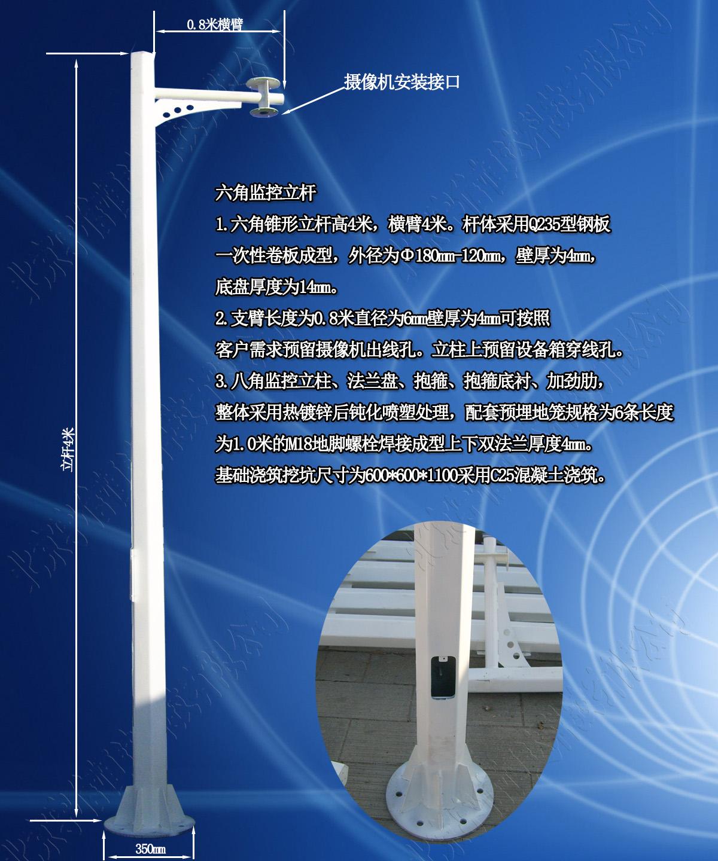 4米八角监控杆JT4-lx1